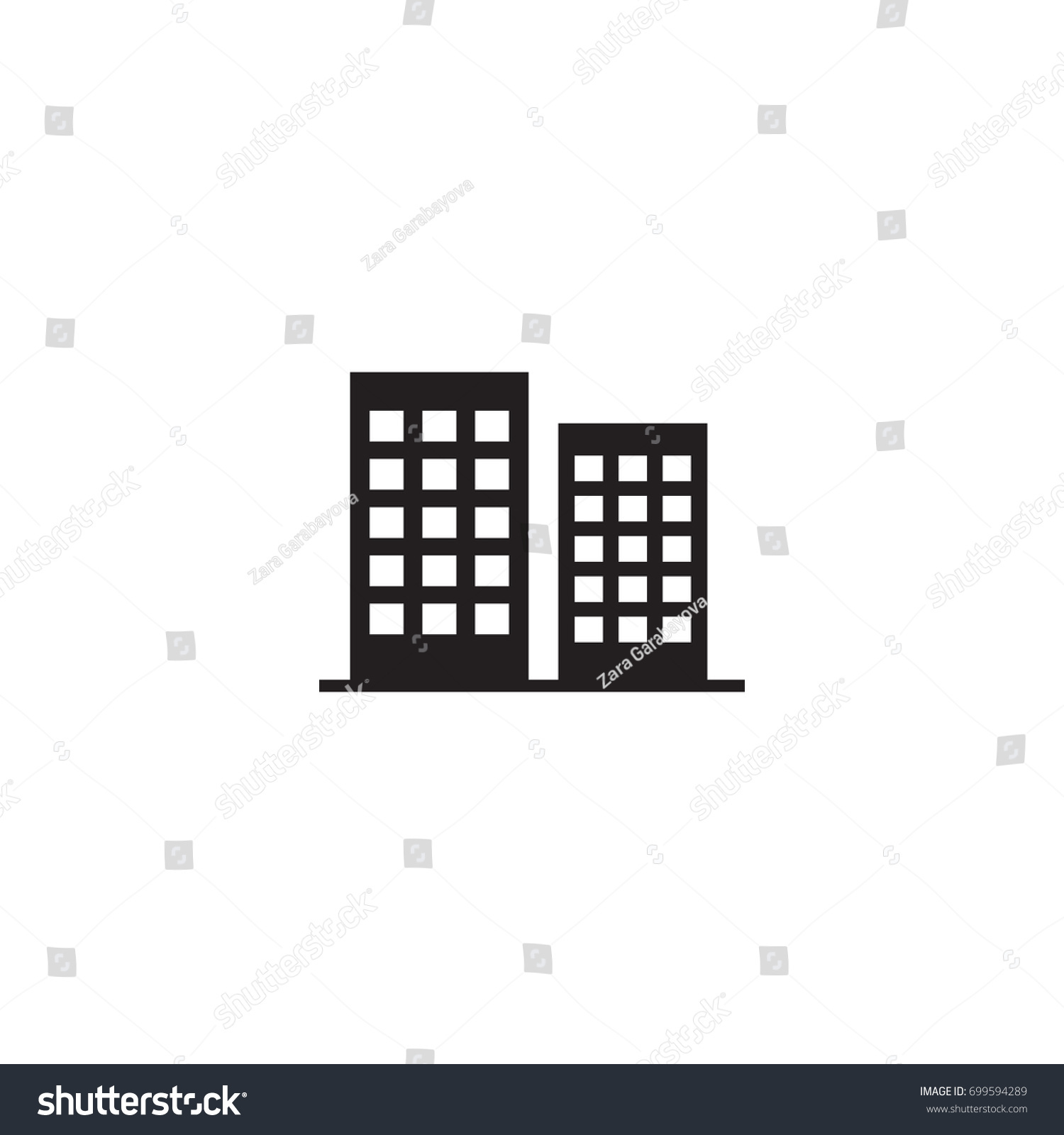 Isolated District Icon Symbol On Clean Stock Vector Royalty Free