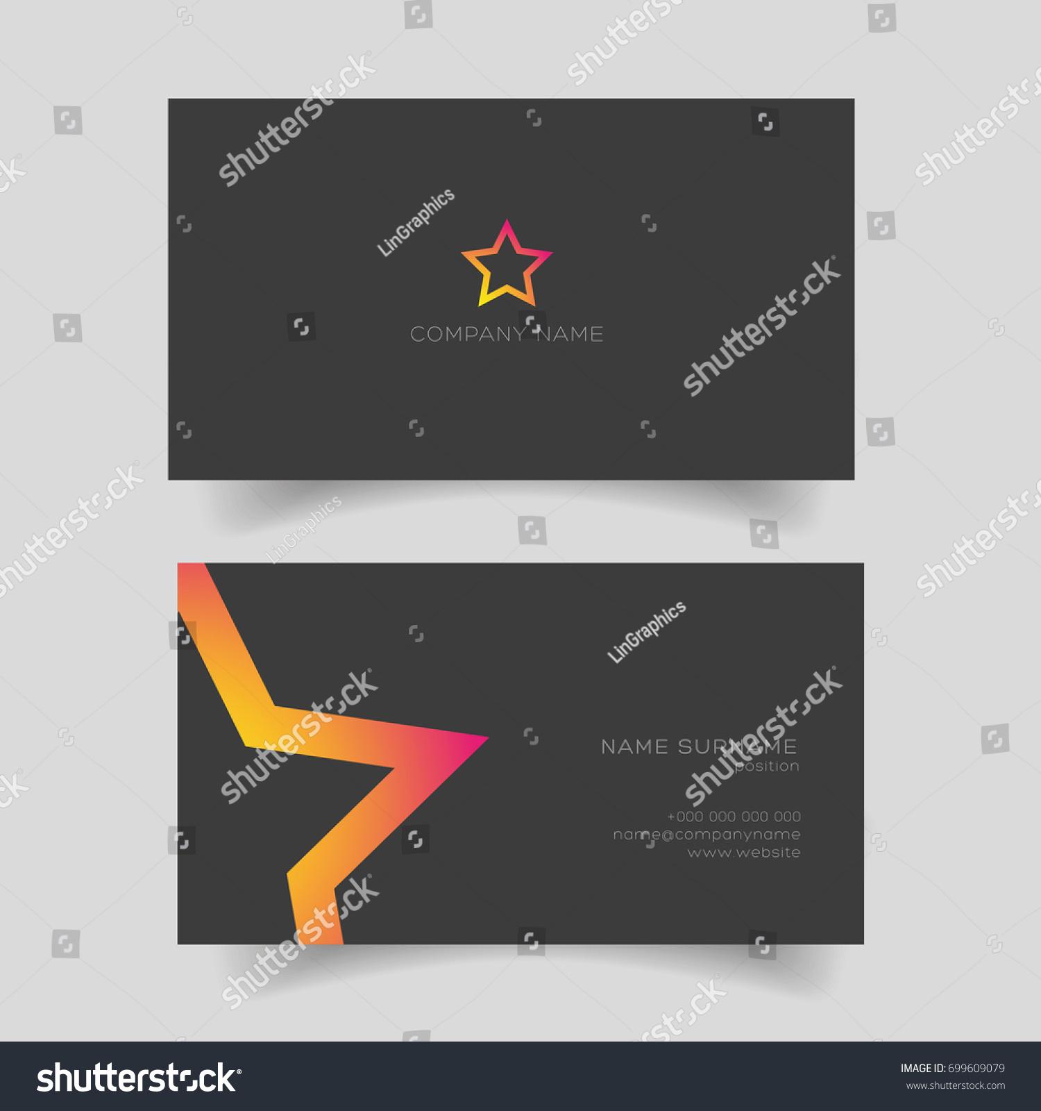 Business card star shape vector stock vector 699609079 shutterstock business card with star shape vector magicingreecefo Choice Image
