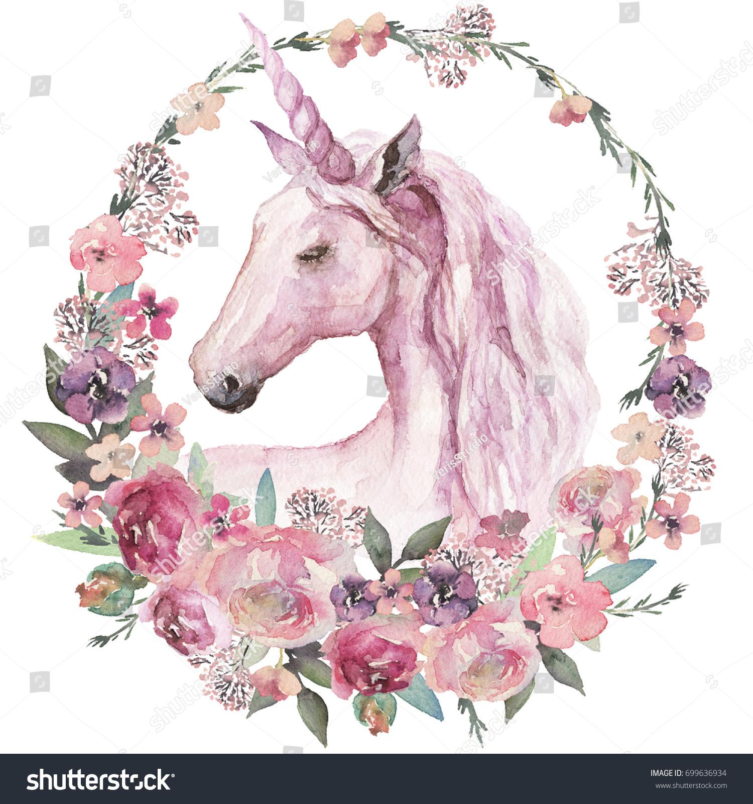 watercolor animal floral boho illustration unicorn stock cute horse clip art heart cute horse clip art free