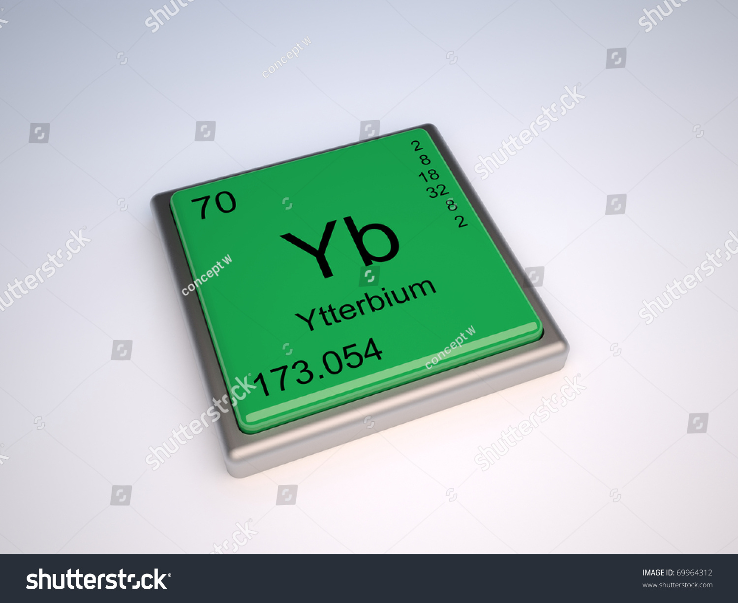 Ytterbium chemical element periodic table symbol stock ytterbium chemical element of the periodic table with symbol yb iupac urtaz Gallery
