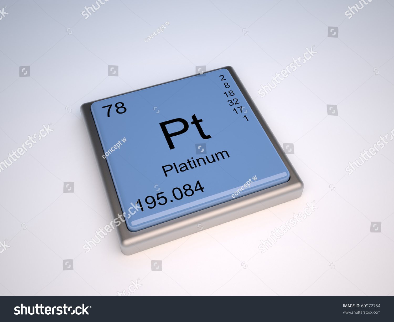 Royalty Free Stock Illustration Of Platinum Chemical Element