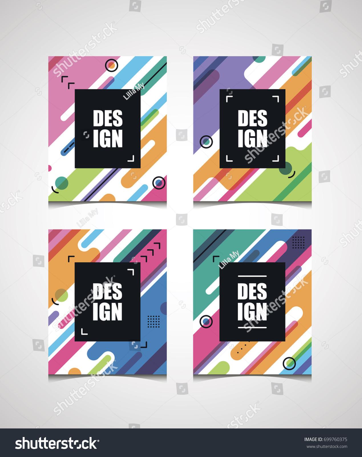 vector diagonal bright frame design business stock vector