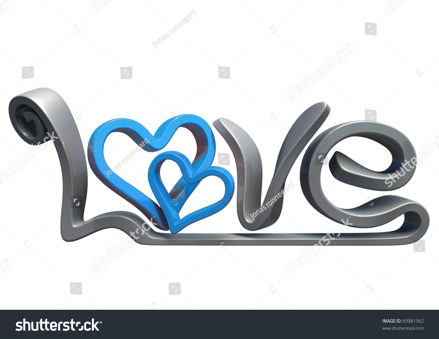 Text that says word love made stock illustration 69981562 text that says the word love made in 3d software isolated on white background biocorpaavc Gallery