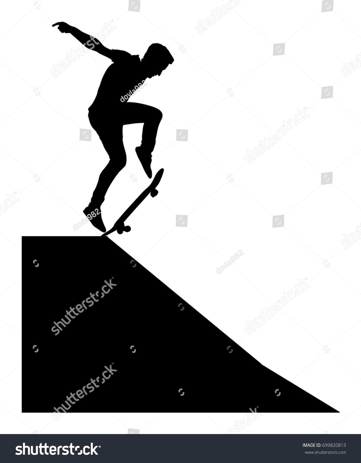 extreme sport game skateboarder skate park stock vector royalty