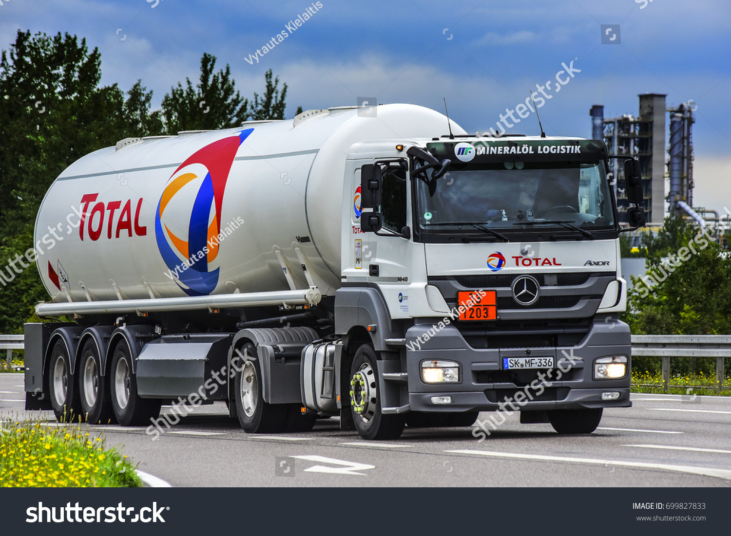 Luxembourg aug 11 total truck on august 11 2017 in luxembourg total