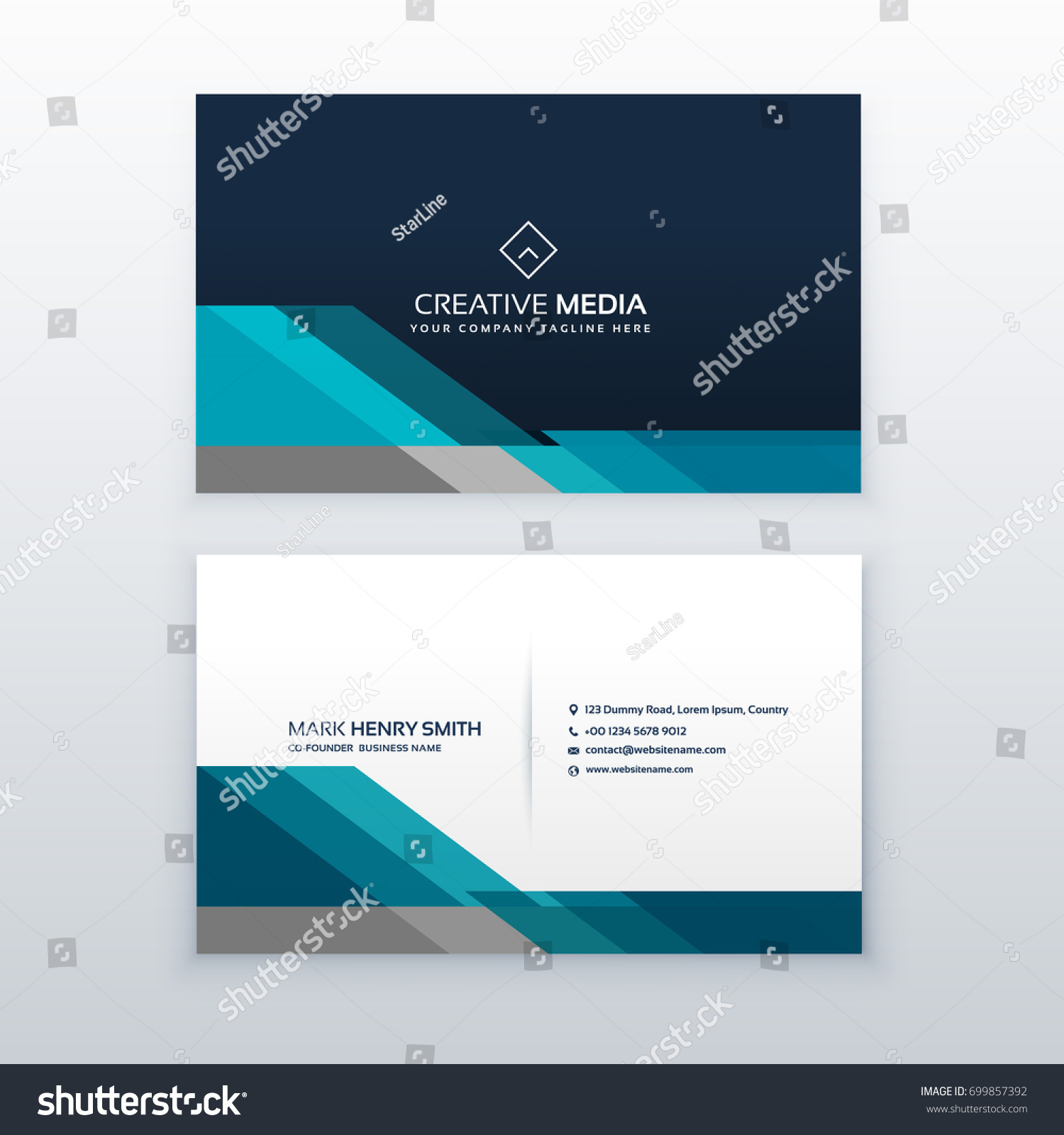 Professional Business Card Design Template Stock Vector Royalty - Professional business card design templates