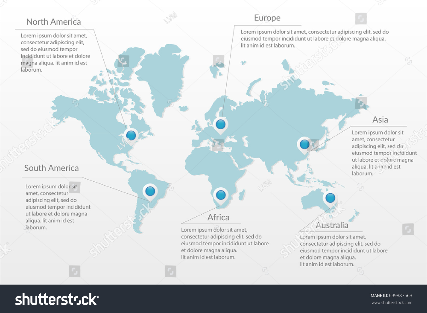 Vector World Map Infographic Symbol North Stock Vector - Australia map infographic
