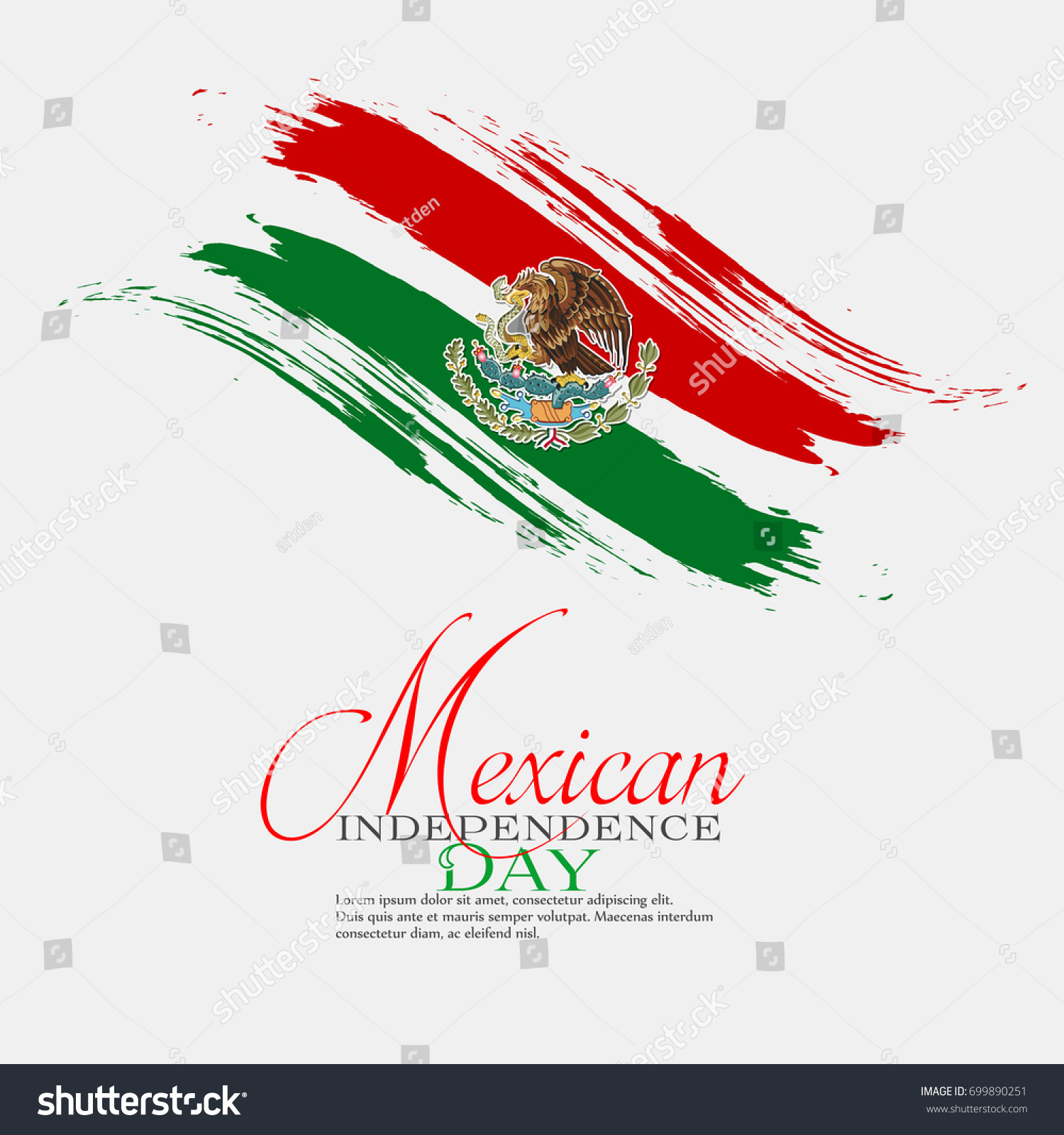 nice beautiful abstract mexican independence day stock vector