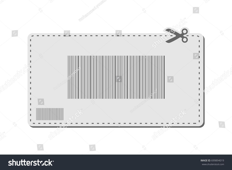 Coupon Bar Codes Voucher Code Promo Stock Vector 699894019