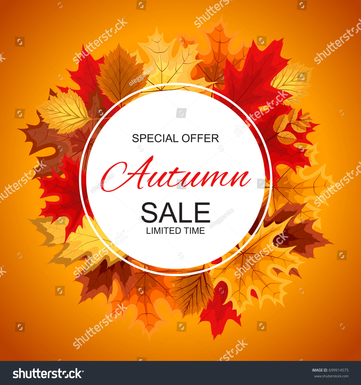 abstract vector illustration autumn sale background stock vector