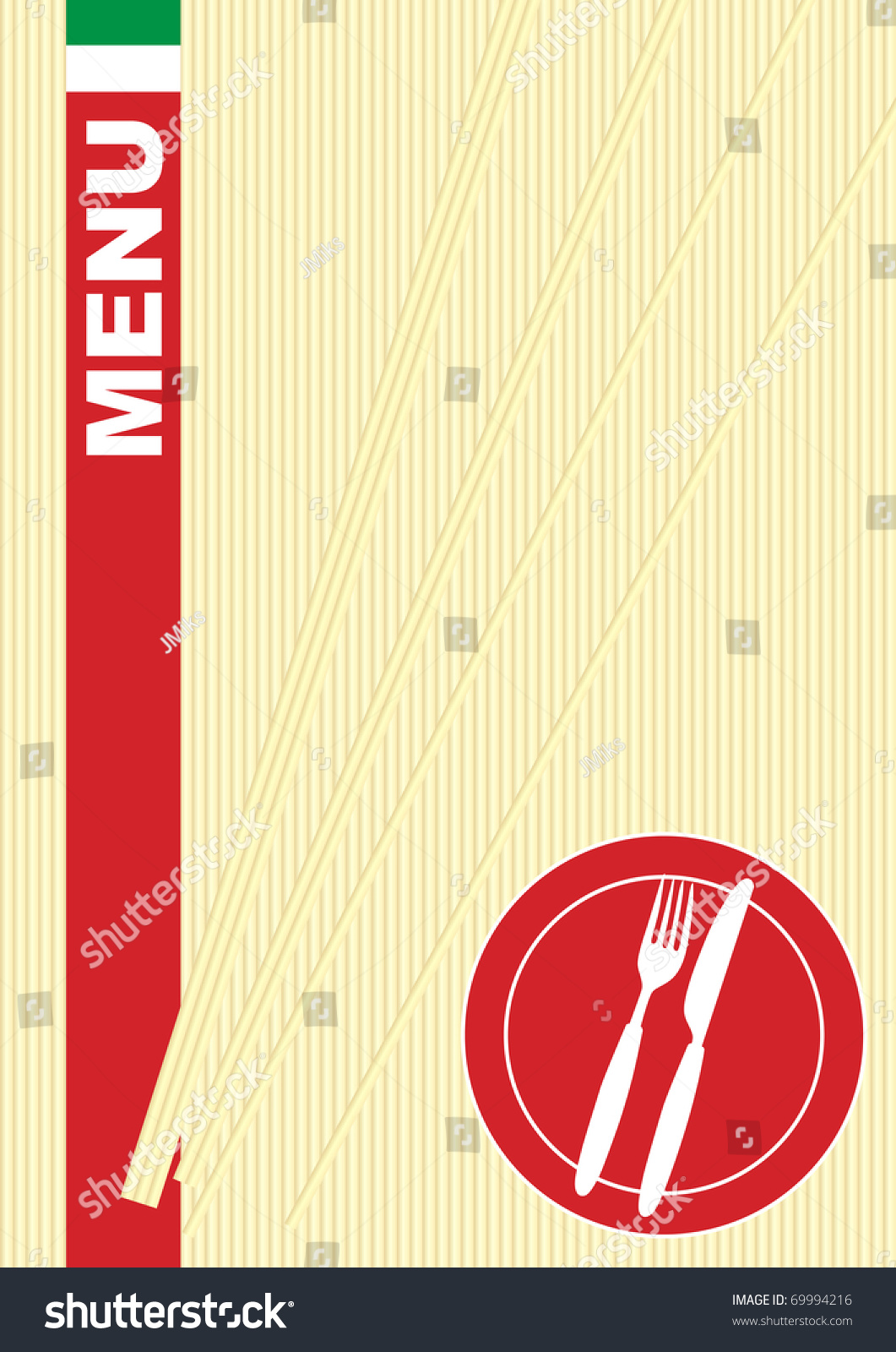 italian food menu card background stock illustration 69994216