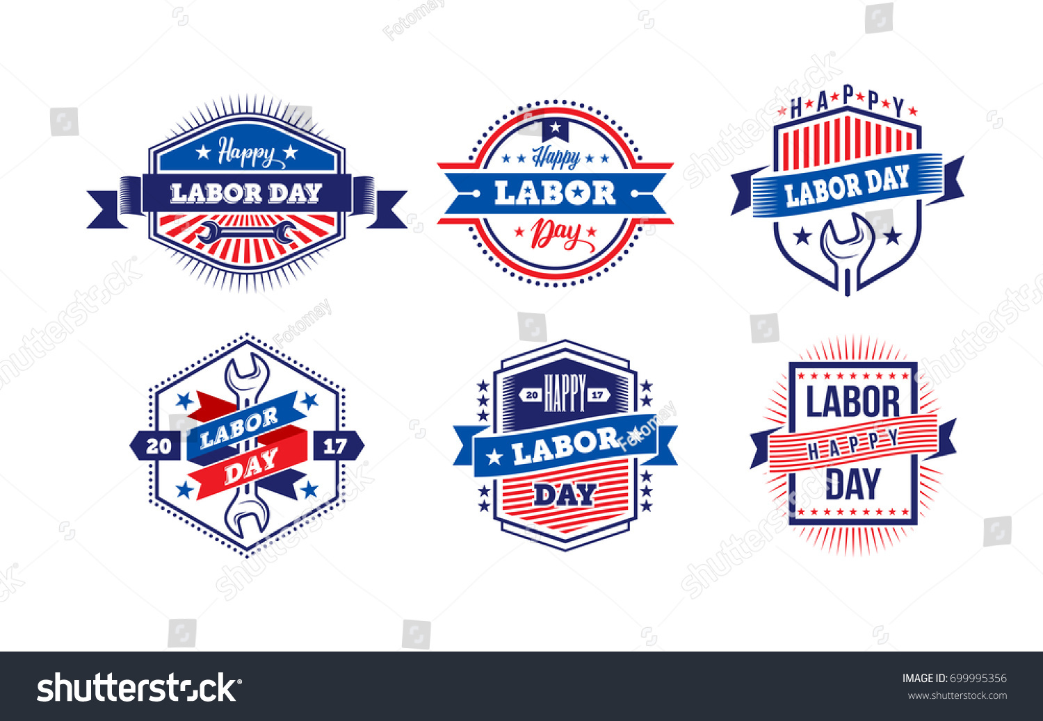 Happy Labor Day America Labor Day Greeting Stock Vector Royalty