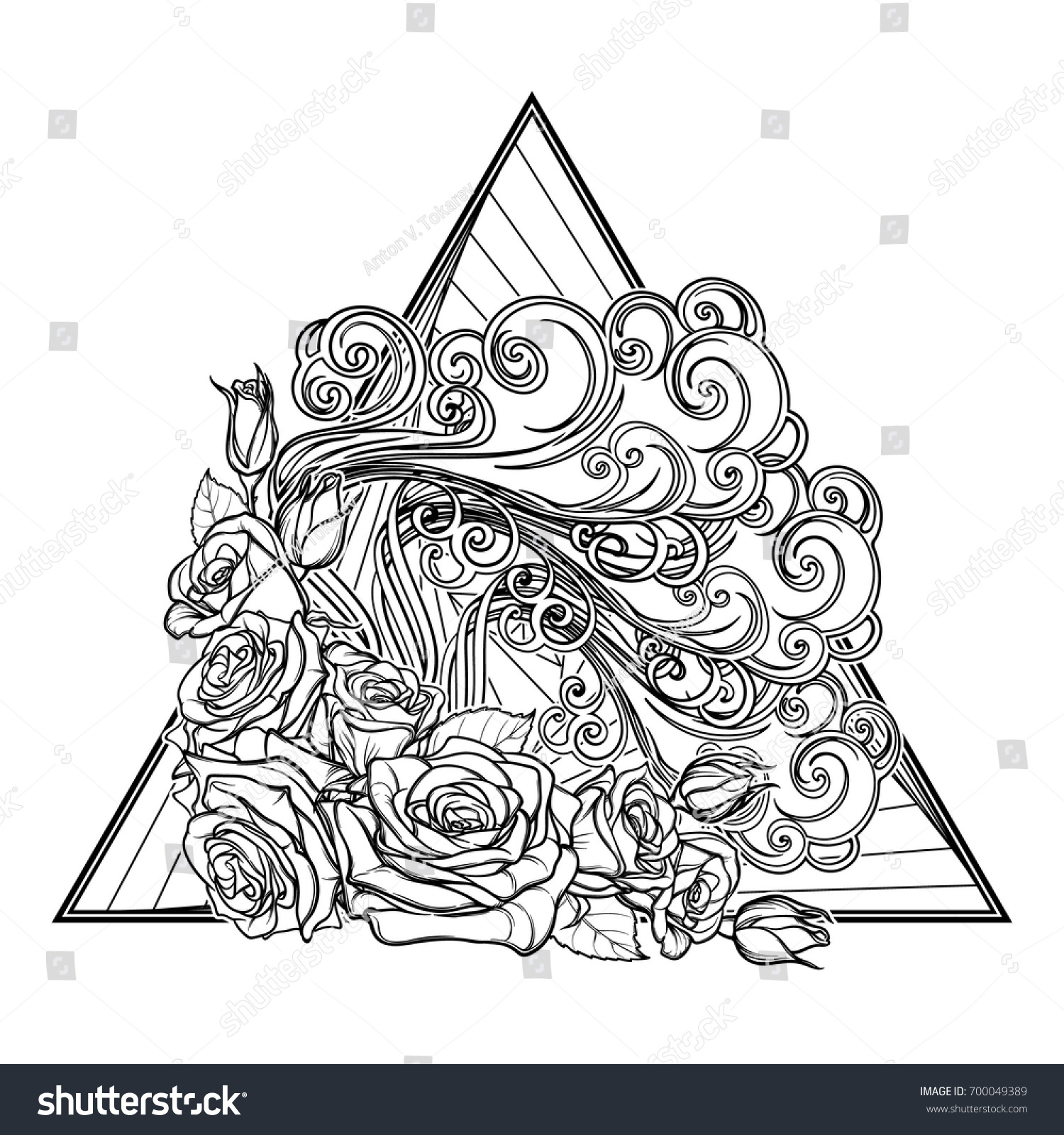 Air symbol tattoo images for tatouage air symbol tattoo for astrology symbol air element decorative vignette stock vector buycottarizona Images