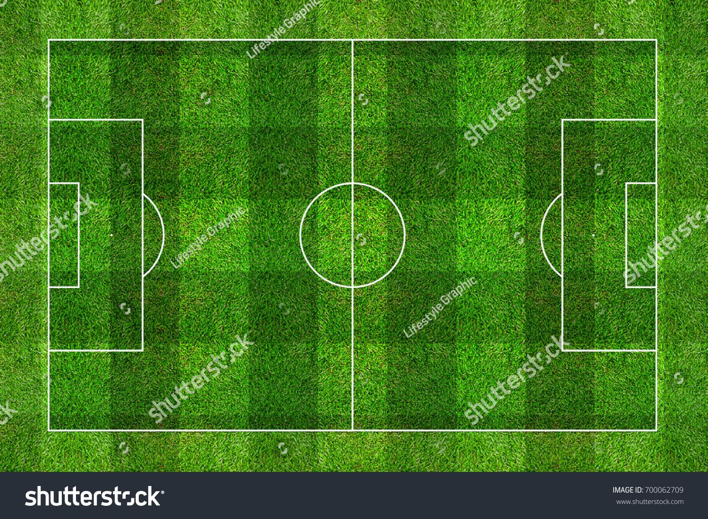 green grass football field. Green Grass Of Soccer Football Field Pattern Background. O
