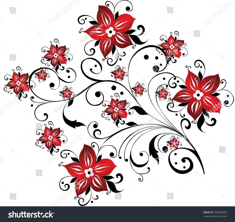 Creative Floral Designs Stock Illustration Shutterstock