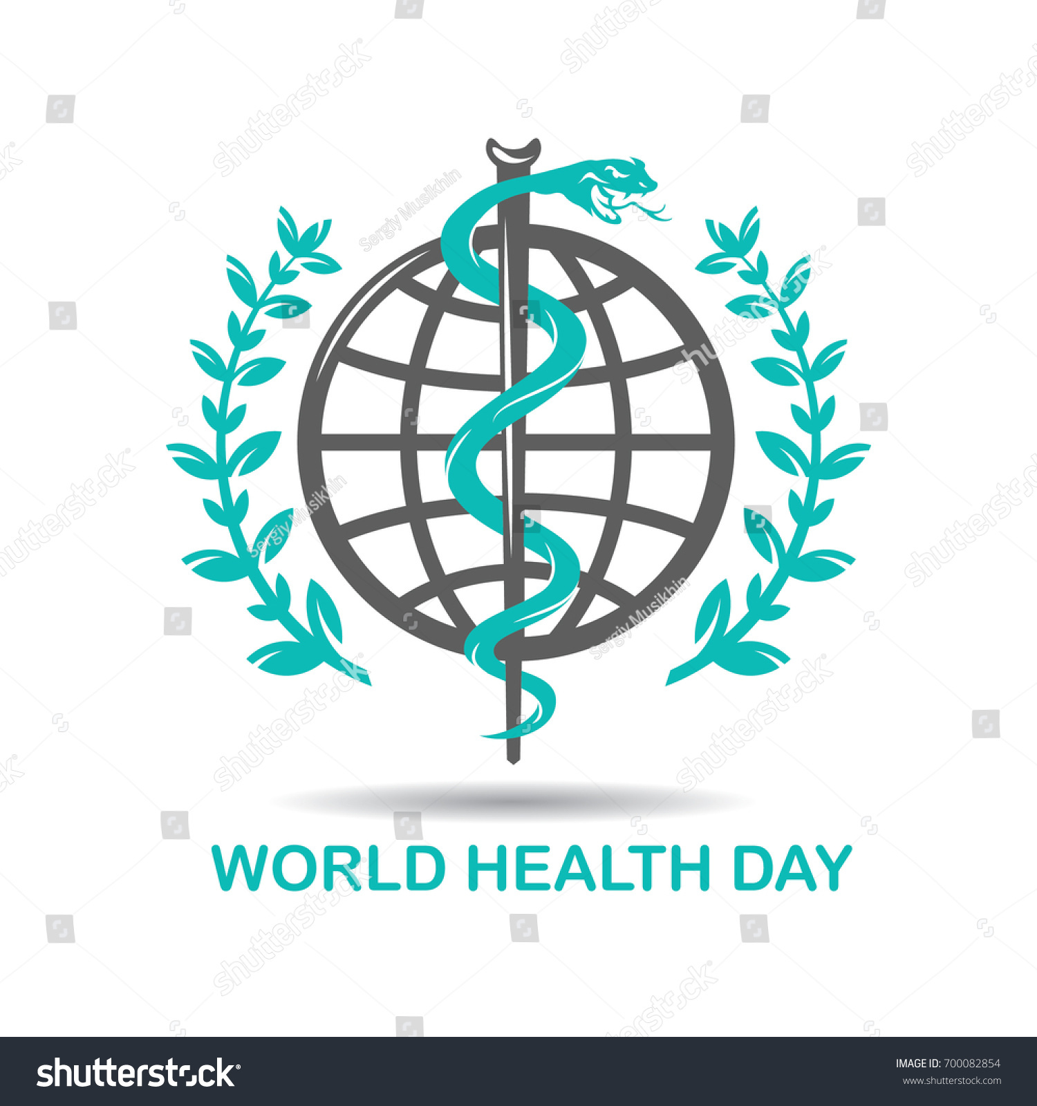 Caduceus symbol snake intertwined around rod stock vector caduceus symbol snake intertwined around a rod gainst the background of the earth healing biocorpaavc