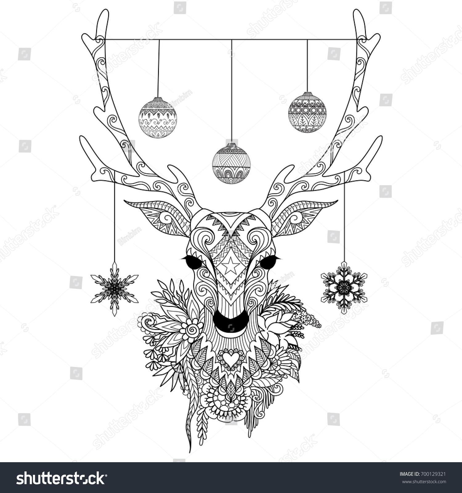Line Art Printing And Design : Line art design christmas balls snowflakes stock vector