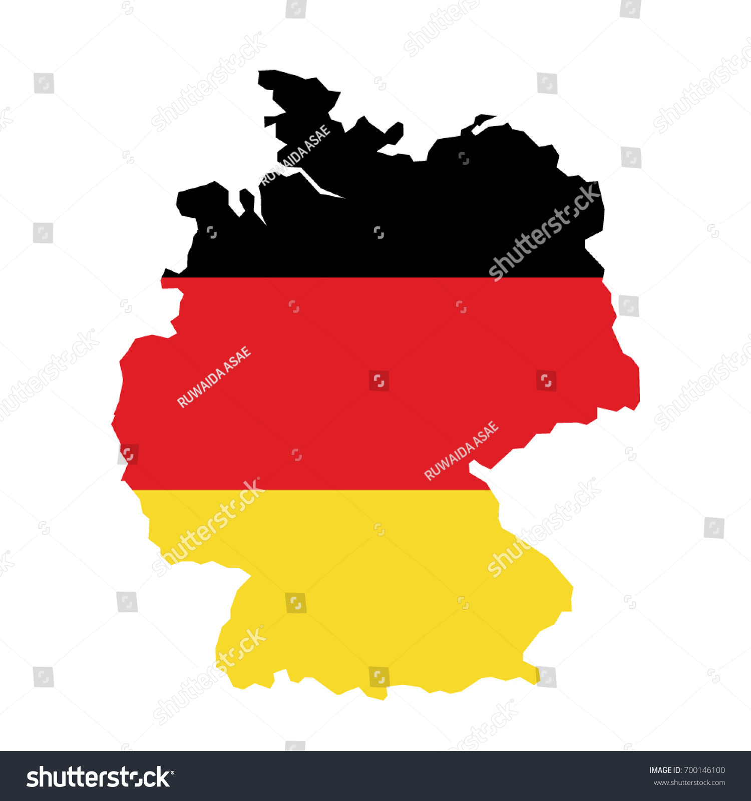 Map Shape Flag Germany Stock Vector Shutterstock - Germany map shape