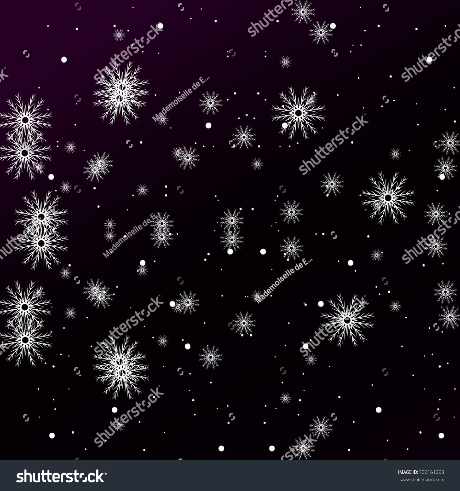 purple color new year background with snowflake and star vector illustration