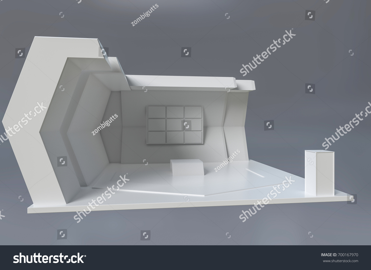 Exhibition Stand 3d Model : Exhibition stand template branding design 3 d stock illustration