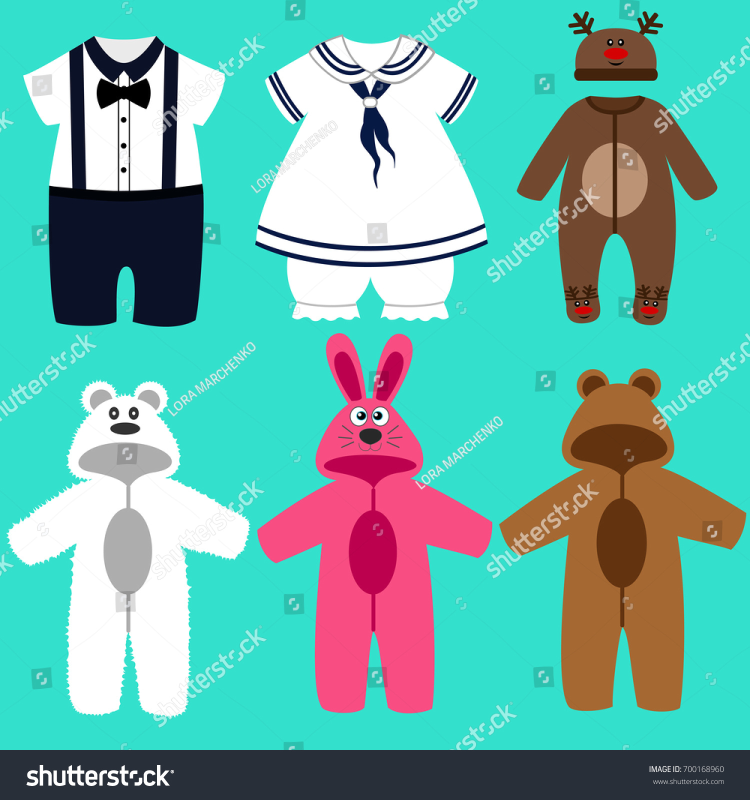 7564da80d Baby Clothes Childrens Tuxedo Romper Suit Stock Vector (Royalty Free ...