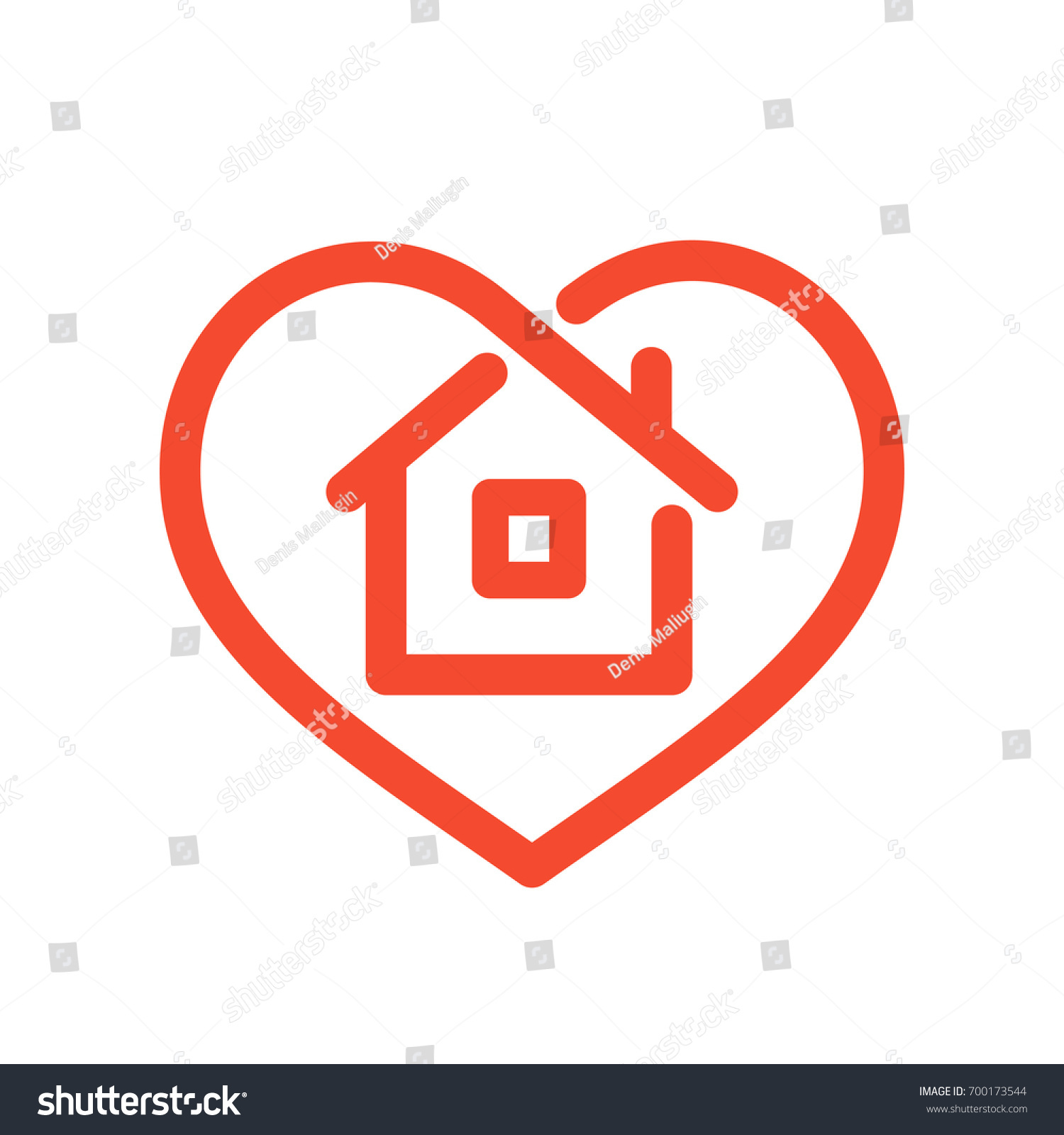 Heart house shape within line style stock vector 700173544 heart with house shape within line style icon love home symbol vector illustration isolated biocorpaavc Images