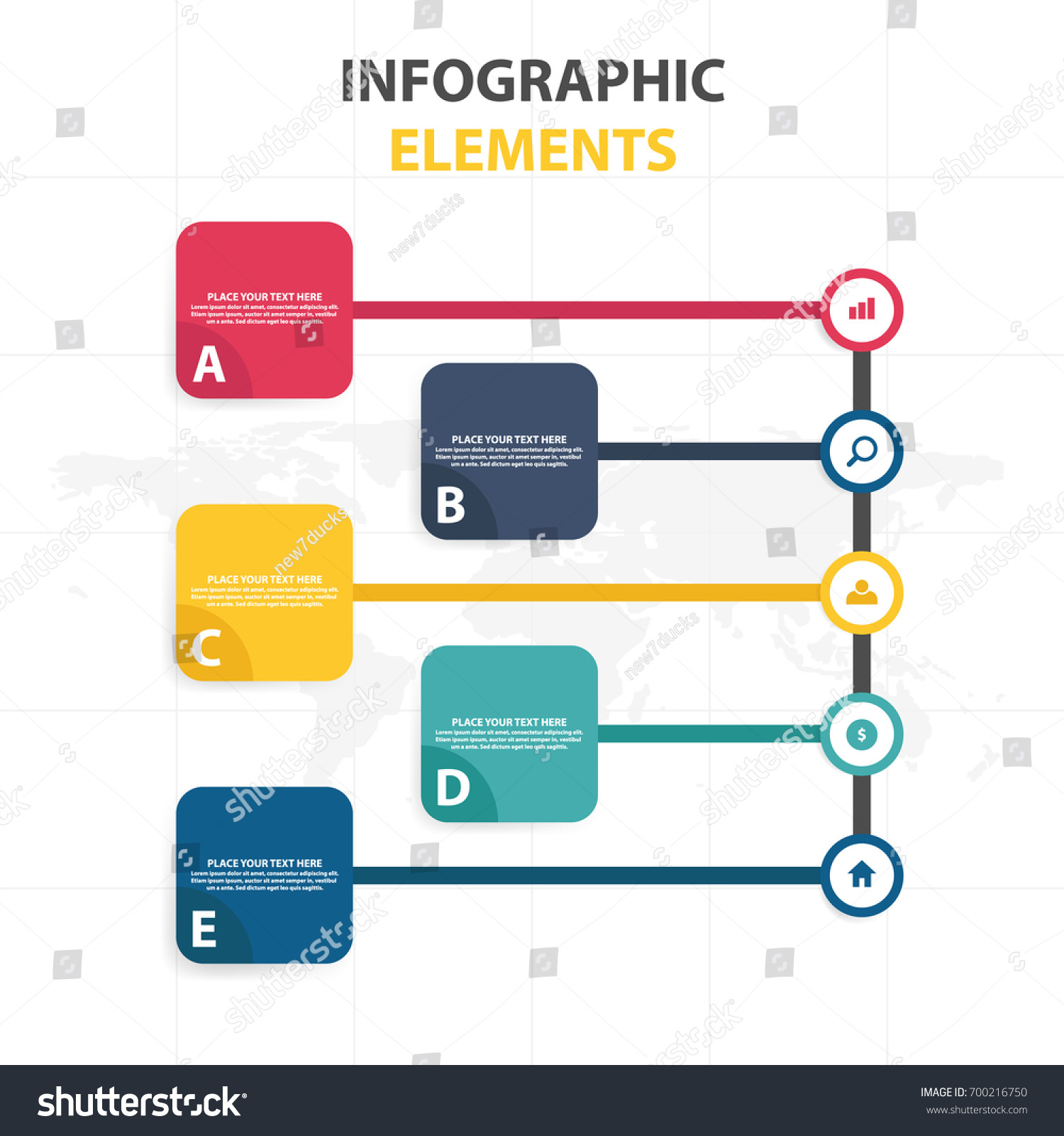Business Infographic Timeline Process Template Colorful Stock - Process timeline template