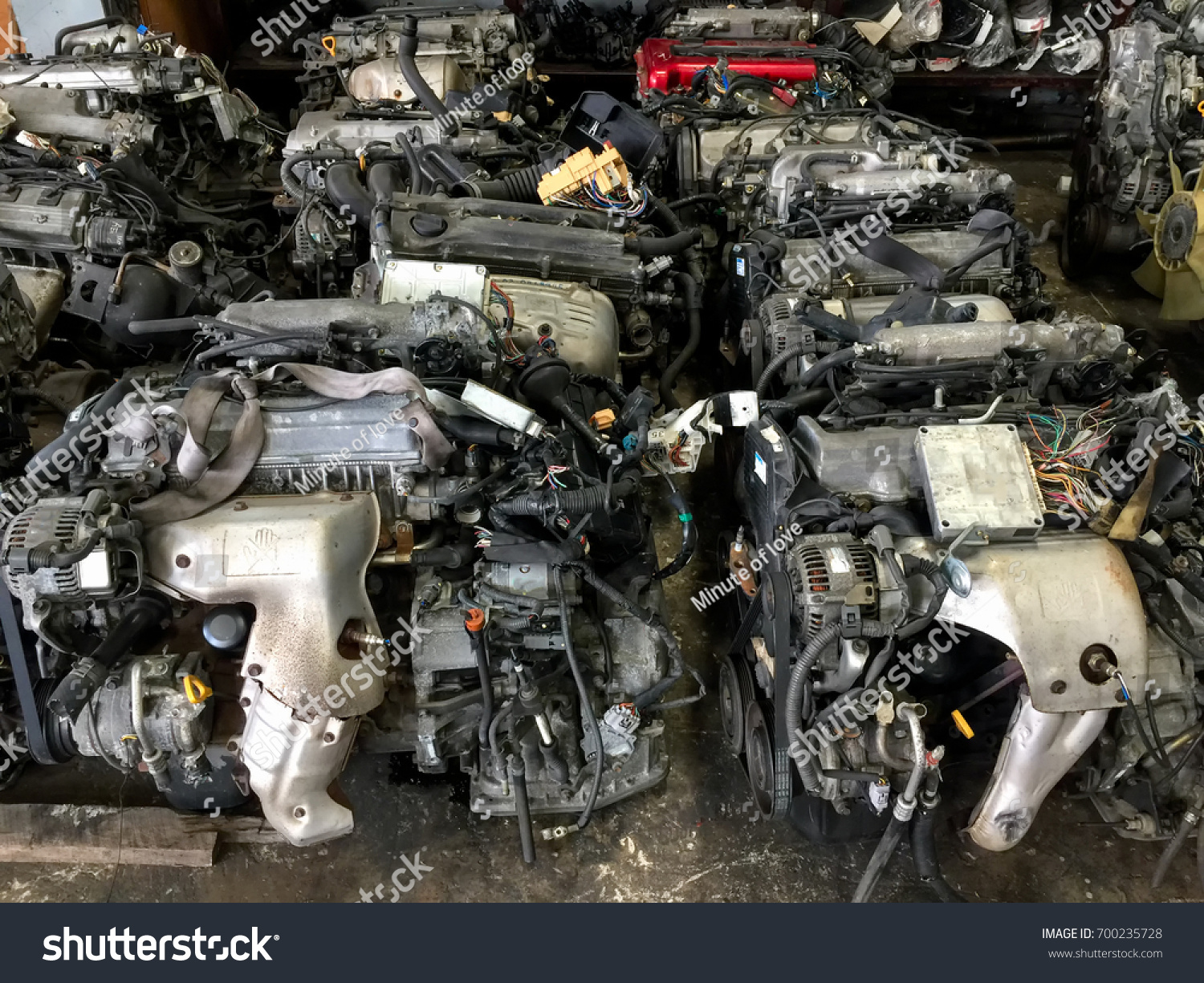 Old Machine Parts Second Hand Machinery Stock Photo (Royalty Free ...