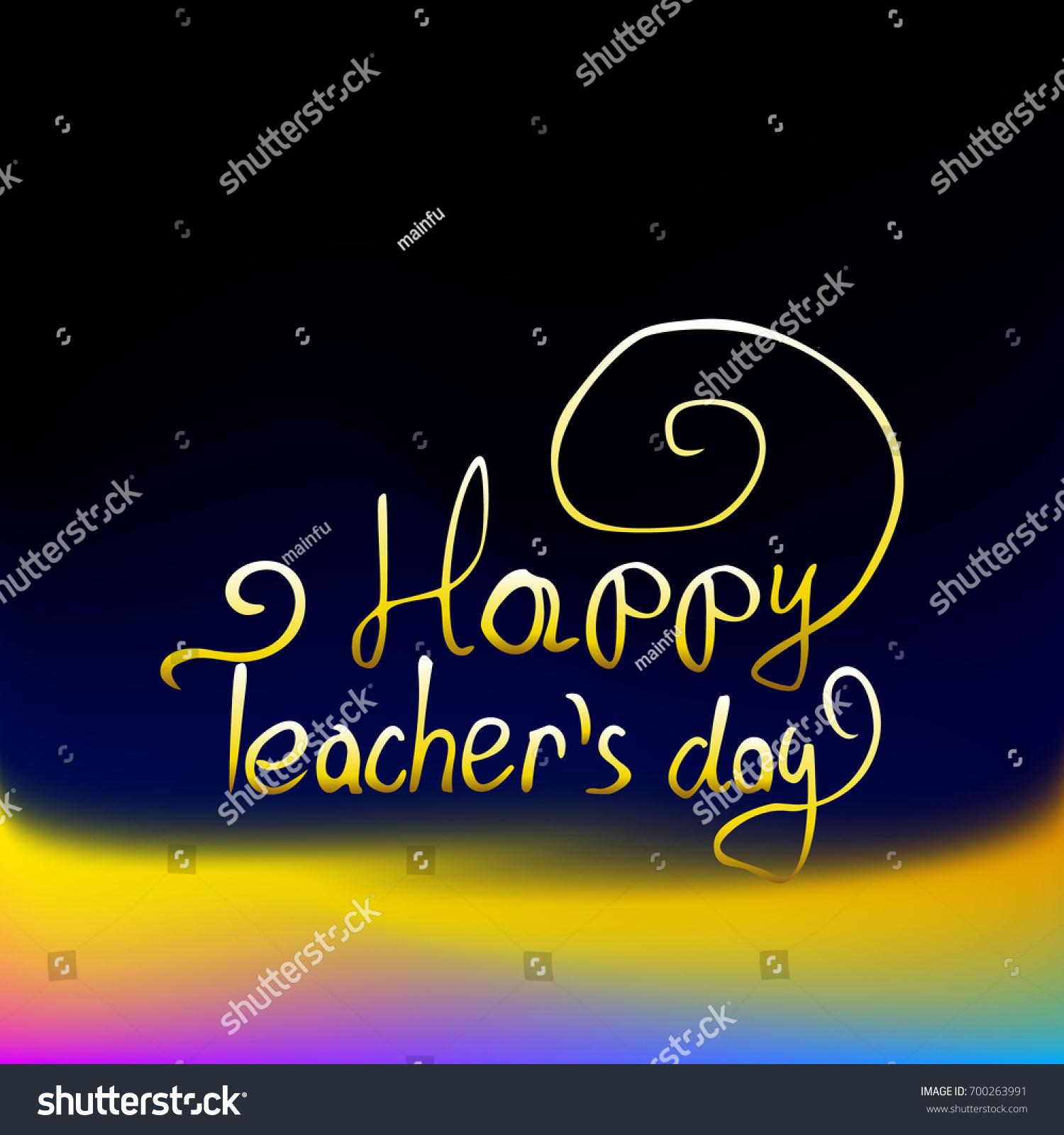 Happy Teachers Day Greeting Card Teachers Stock Vector Royalty Free