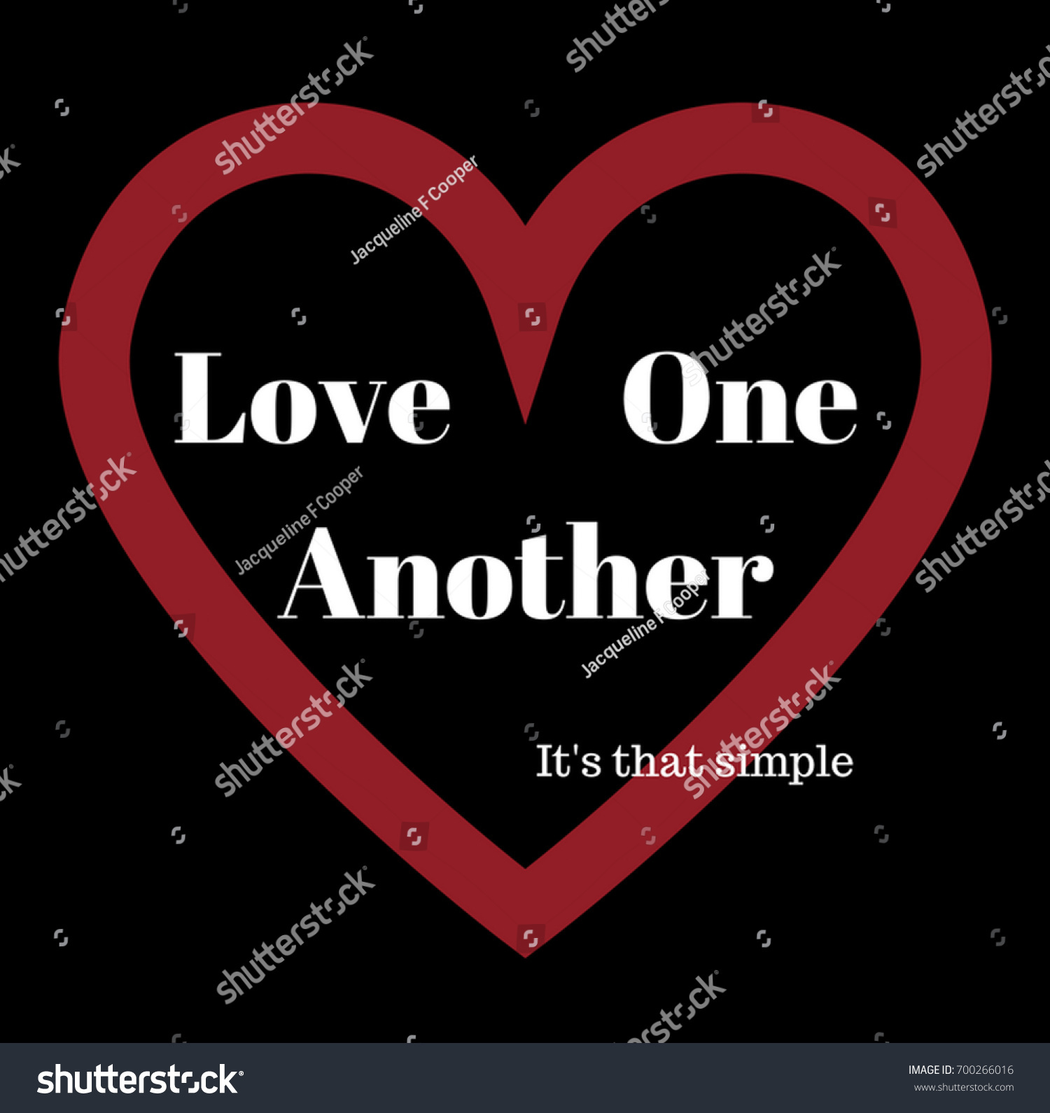 Love One Another Quotes | Inspirational Quote Golden Rule Love One Stock Illustration