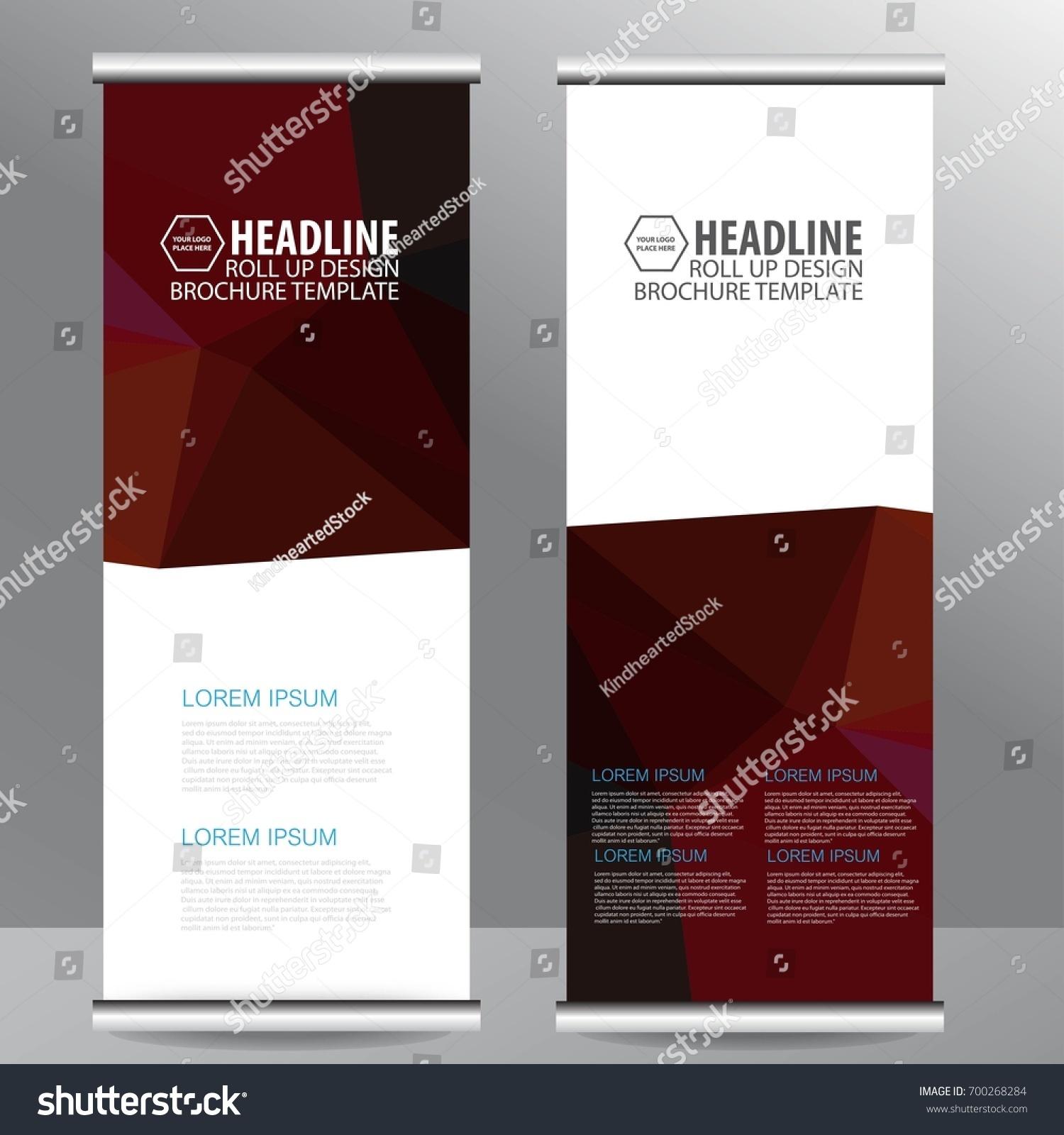 roll up business brochure flyer banner design vertical template