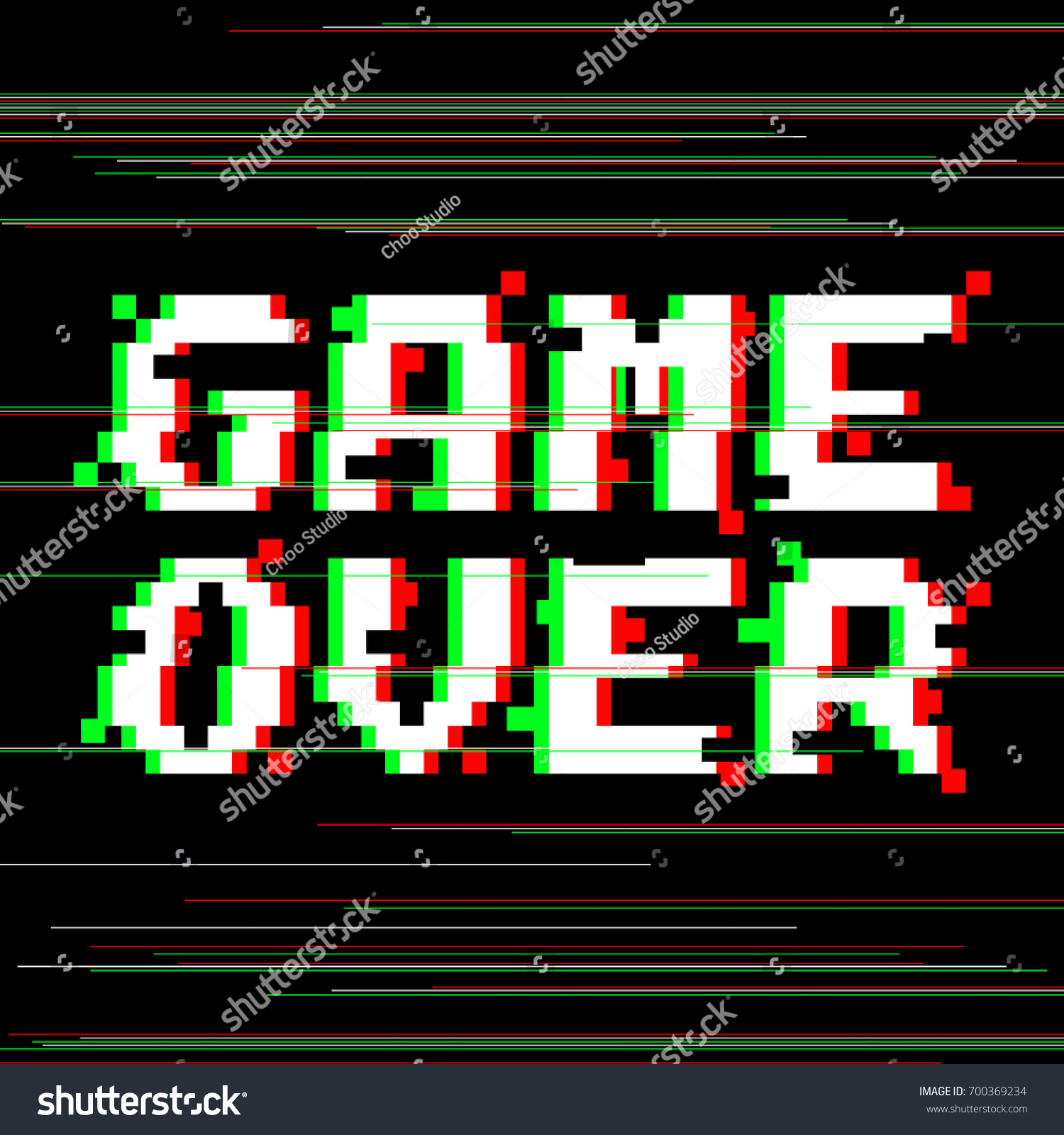 Vector Drawing Lines Games : Vector game over phrase pixel art image vectorielle