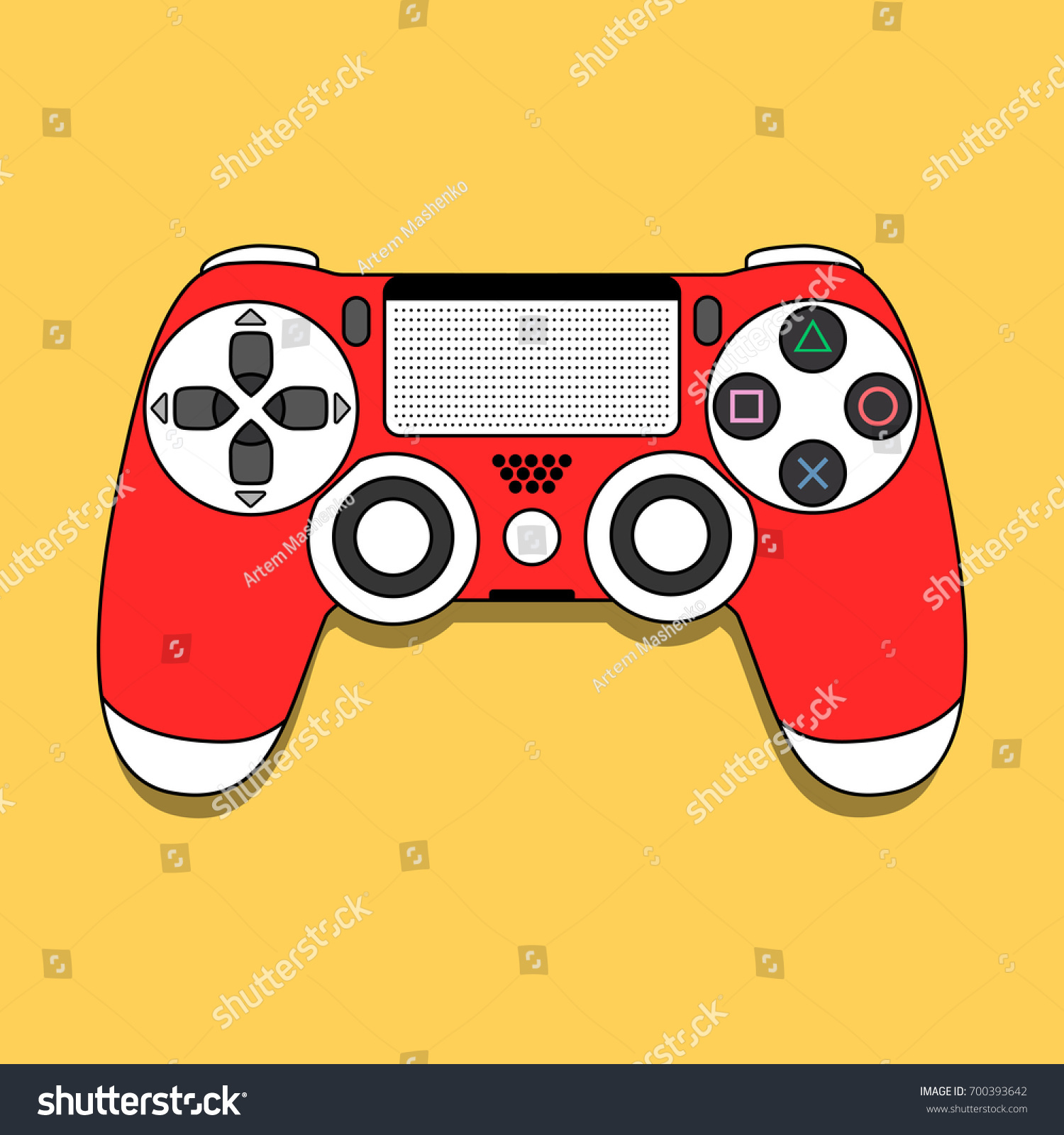 Dual Shock 4 Gamepad Play Station Modern Stock Vector Royalty Joystick Double Game Pad Transparant Wellcome Dualshock For Playstation Design Illustration Eps10