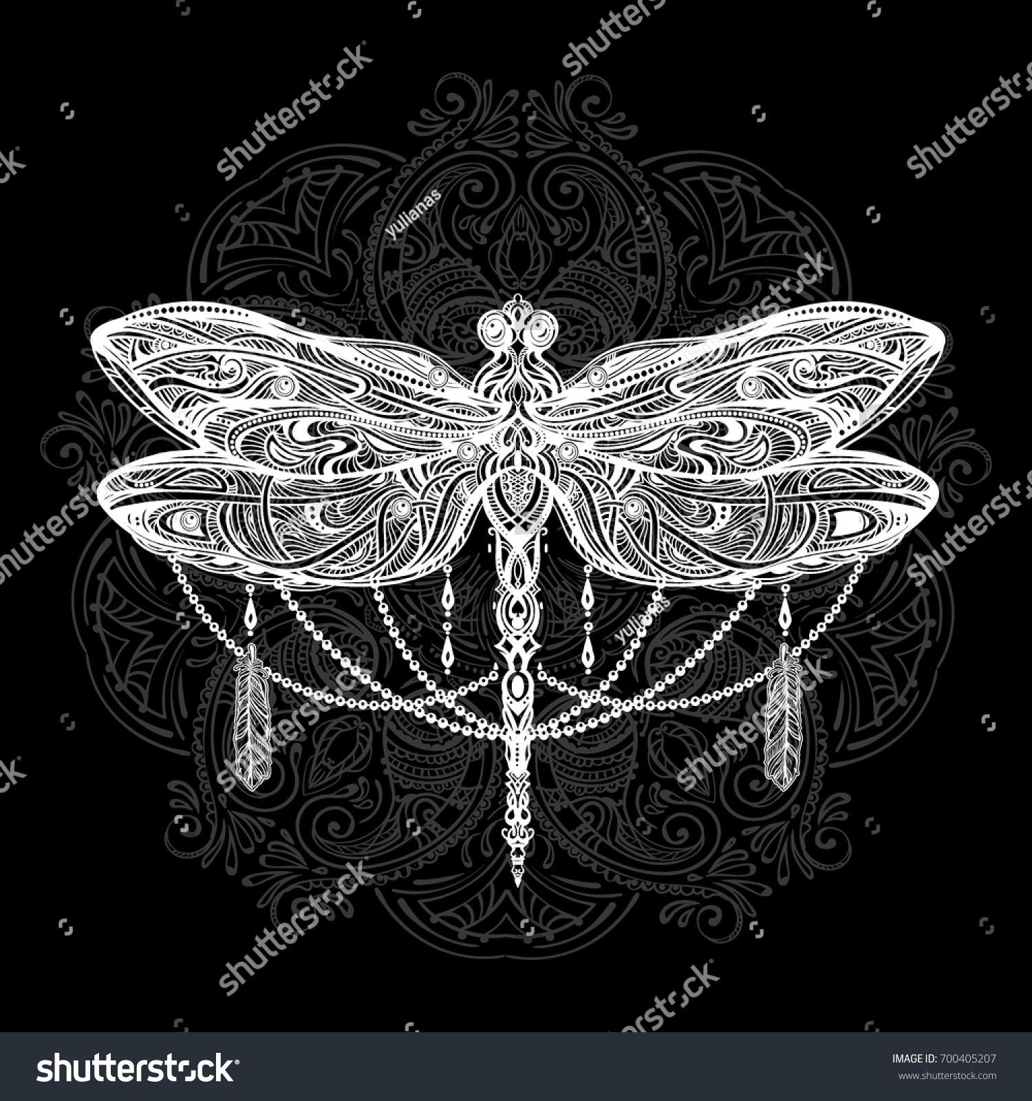 Exquisite ornate stylized dragonfly spiritual esoteric stock exquisite ornate stylized dragonfly spiritual esoteric totem symbol of africa india biocorpaavc