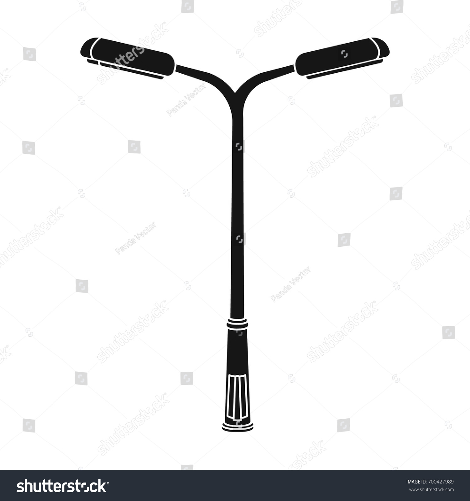 Modern Street Lamplamppost Single Icon Black Stock Vector ... for Modern Street Lamp Post  153tgx
