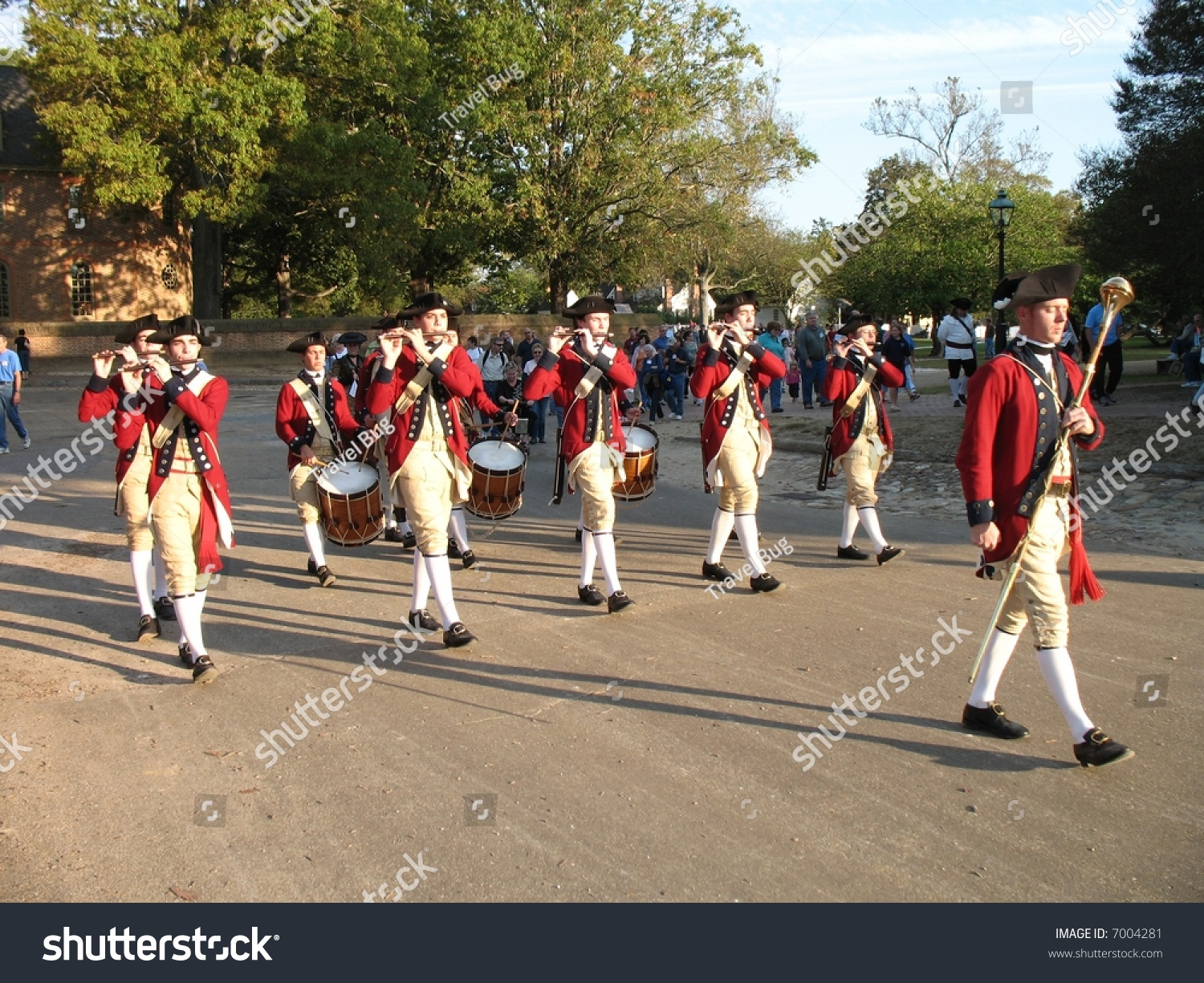 British Fife Drum Band Historic Colonial Stock Photo 7004281 ...