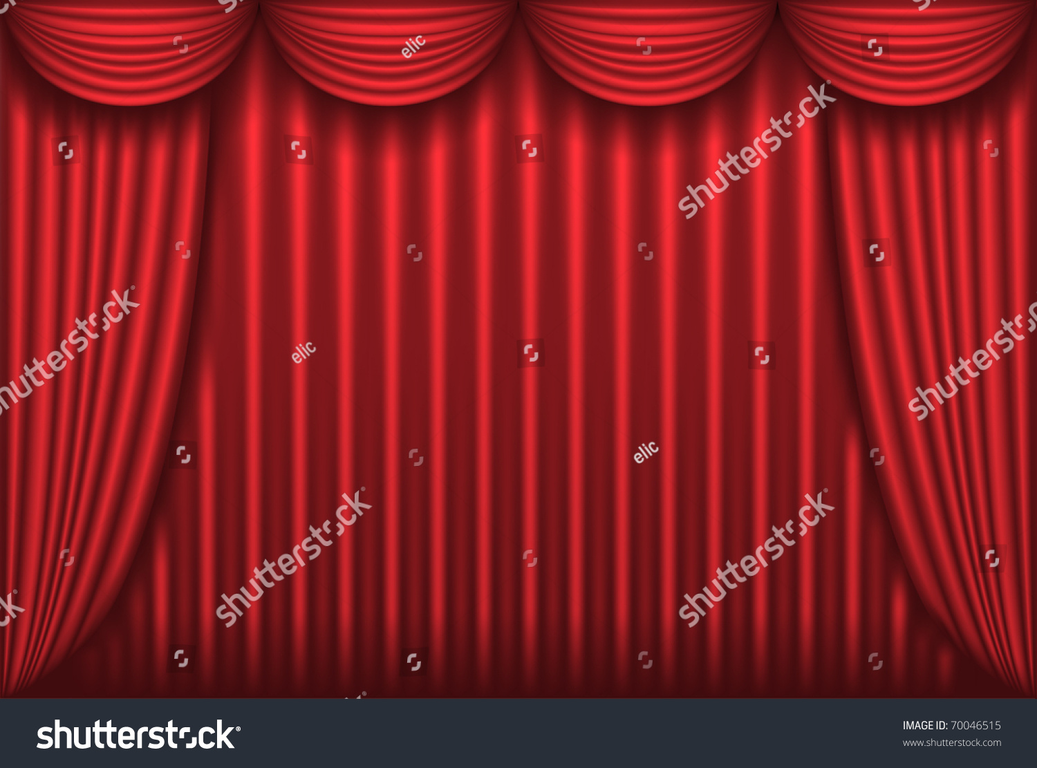 Closed theater curtains - Closed Red Theater Curtain Background Vector Illustration