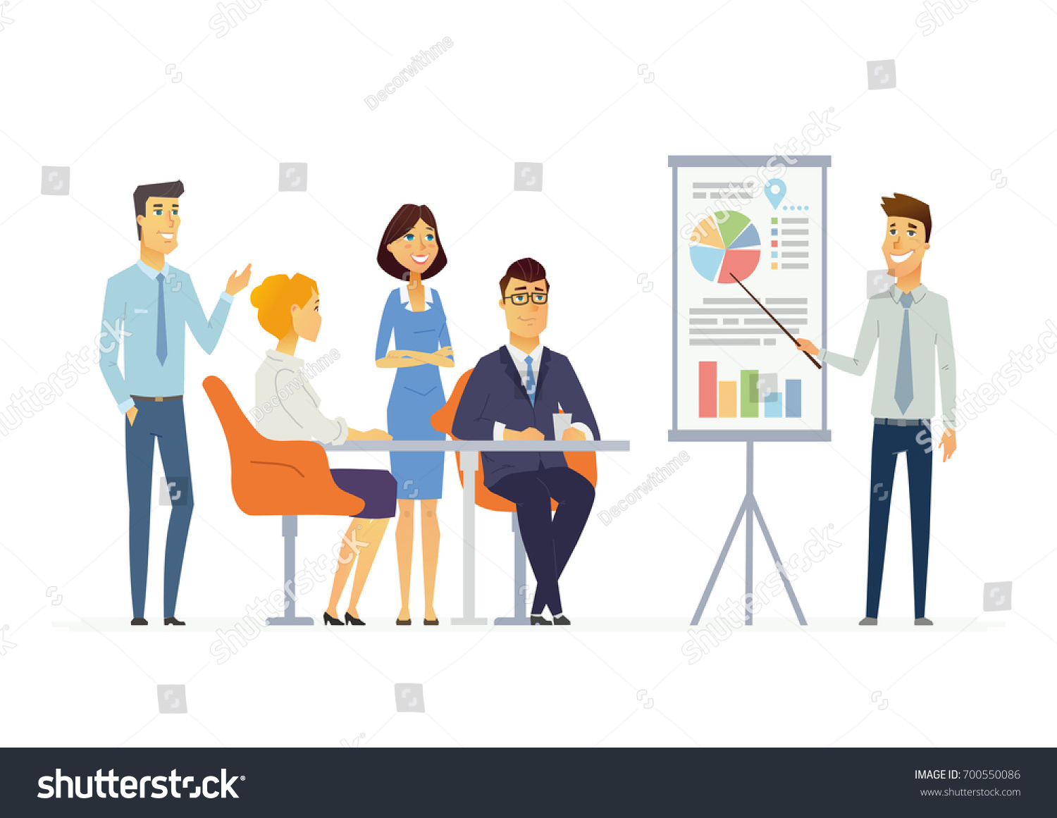 Business cartoon about hesitancy to talk in a meeting ... |Business Meeting Cartoon Person