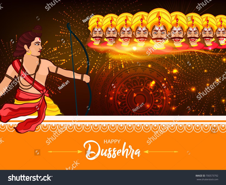 Beautiful greeting design happy dussehra vector stock vector beautiful greeting design for happy dussehra vector illustration of vijay dasmi festival with hindi font kristyandbryce Choice Image