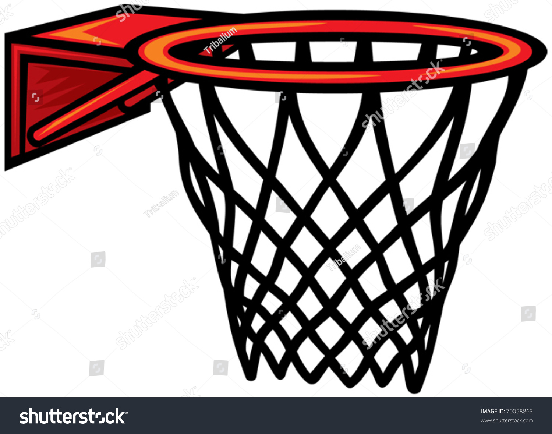 Basketball Hoop Vector Illustration Stock Vector 70058863 ...