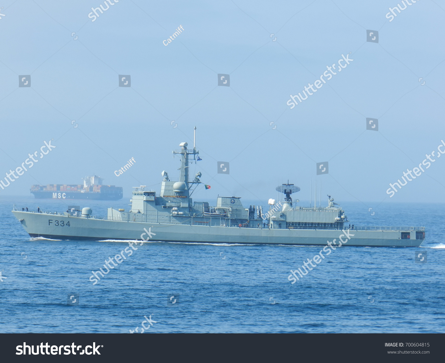 Portuguese Navy Warships Joined Patrol Against Stock Photo