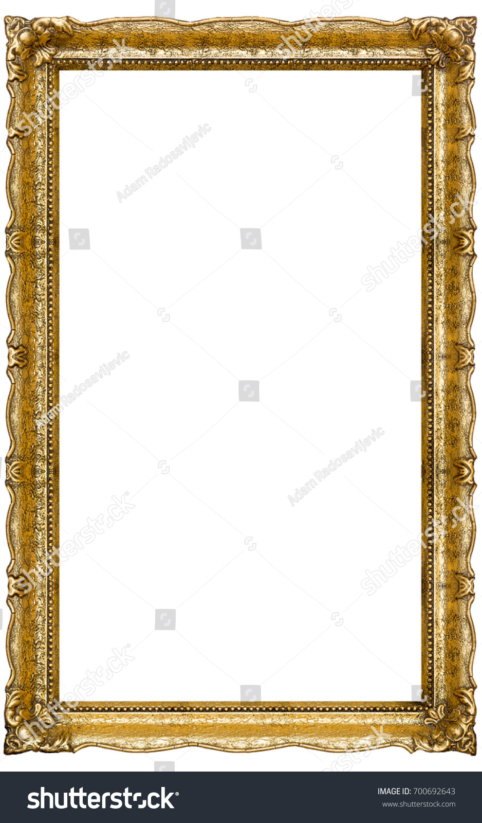 Very Big Old Gold Picture Frame Stock Photo (Edit Now)- Shutterstock