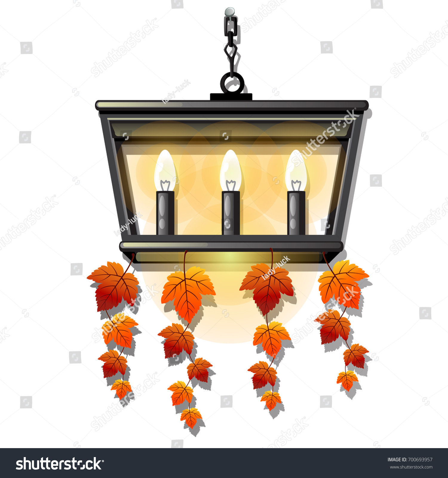 Decorative Hanging Wall Lamp Sconce Bulbs Stock Vector 700693957 ...