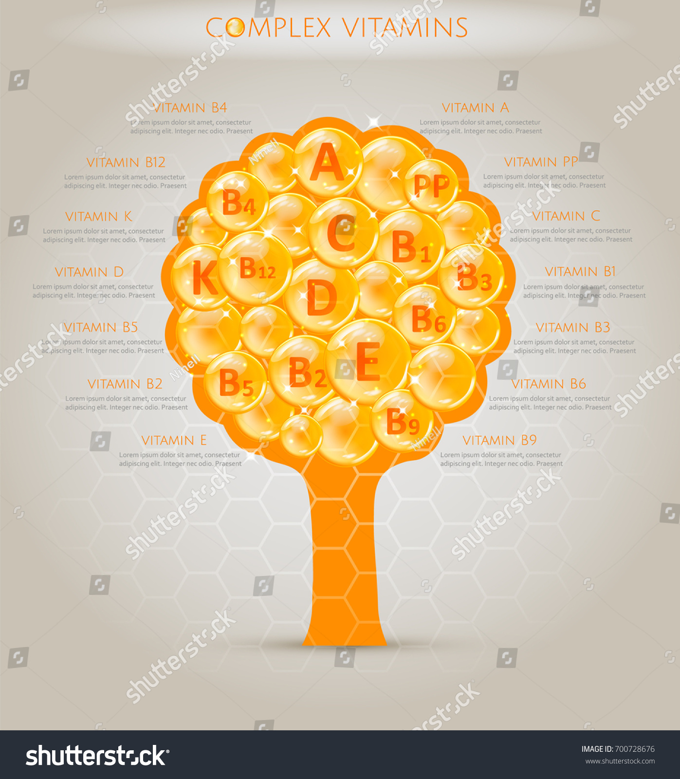 Complex vitamins all necessary vitamins set stock vector 700728676 a complex of vitamins all the necessary vitamins in set tree form with vitamins ccuart Image collections