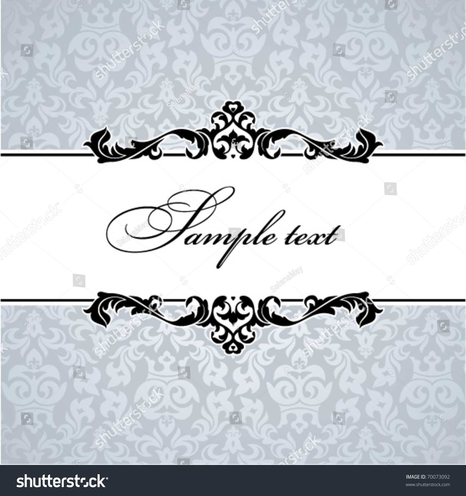 Vintage Floral Frame Great Greeting Cards Vector 70073092 – Greeting Cards and Invitations