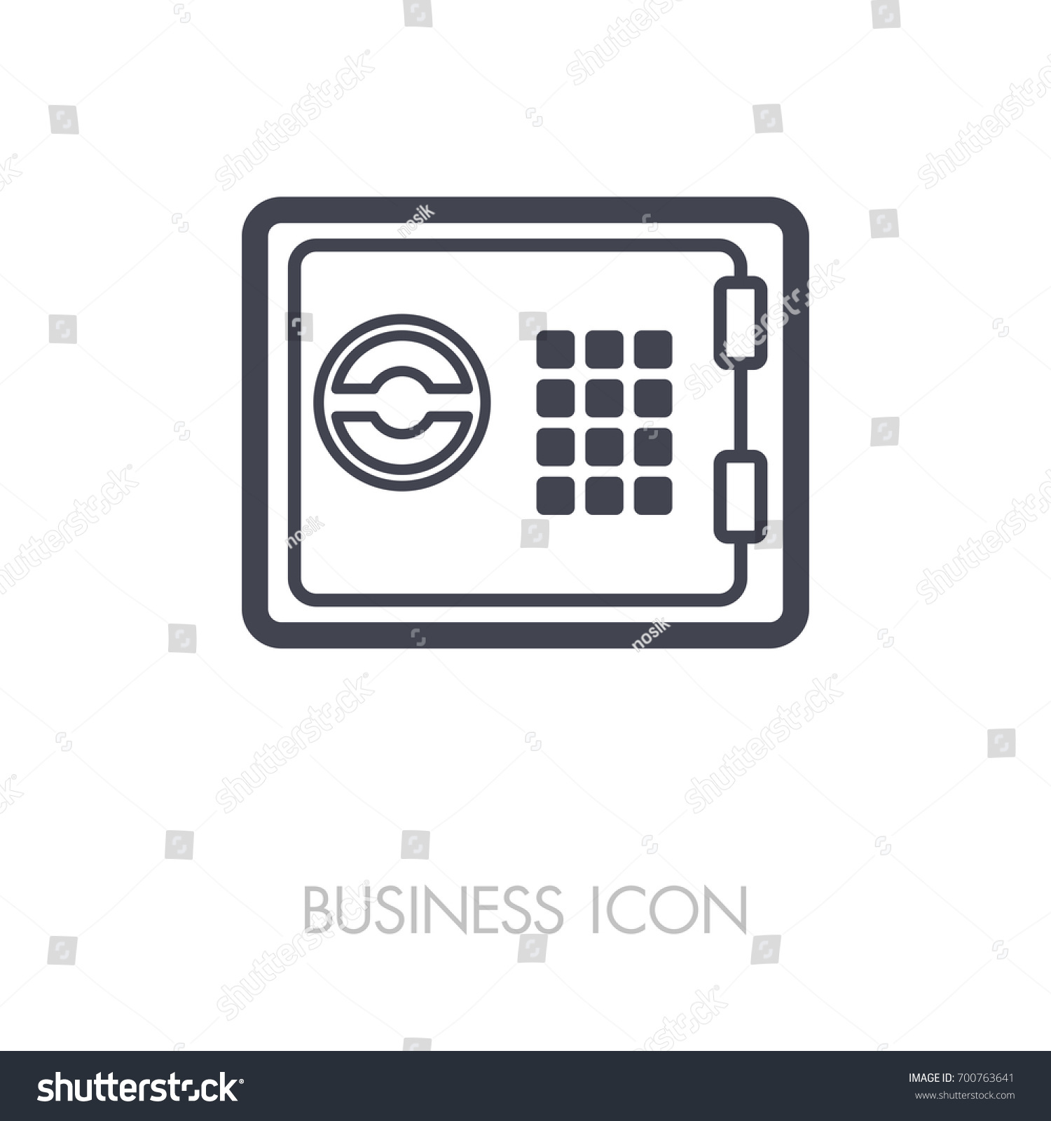 Bank safe outline icon finances sign stock vector 700763641 bank safe outline icon finances sign graph symbol for your web site design biocorpaavc Gallery