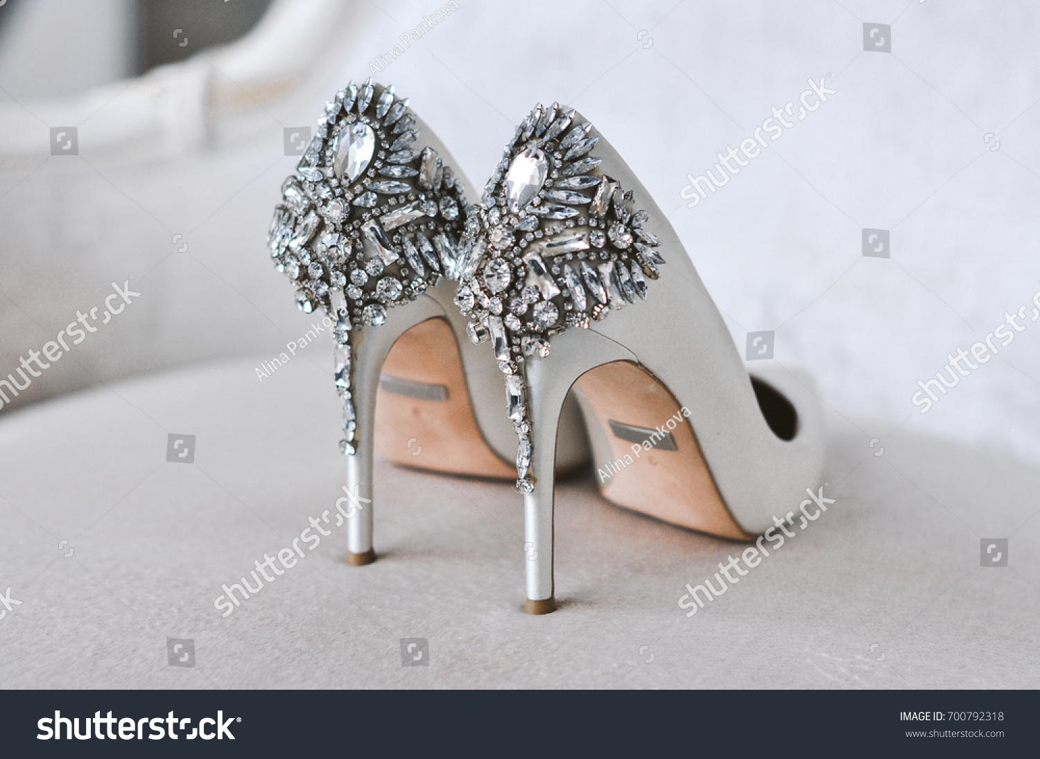 Pair of wedding shoes #700792318