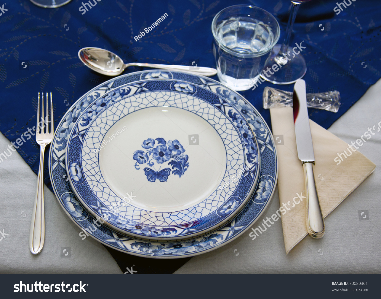 Setting A Dinner Table Table Setting Dinner Table Stock Photo 70080361 Shutterstock