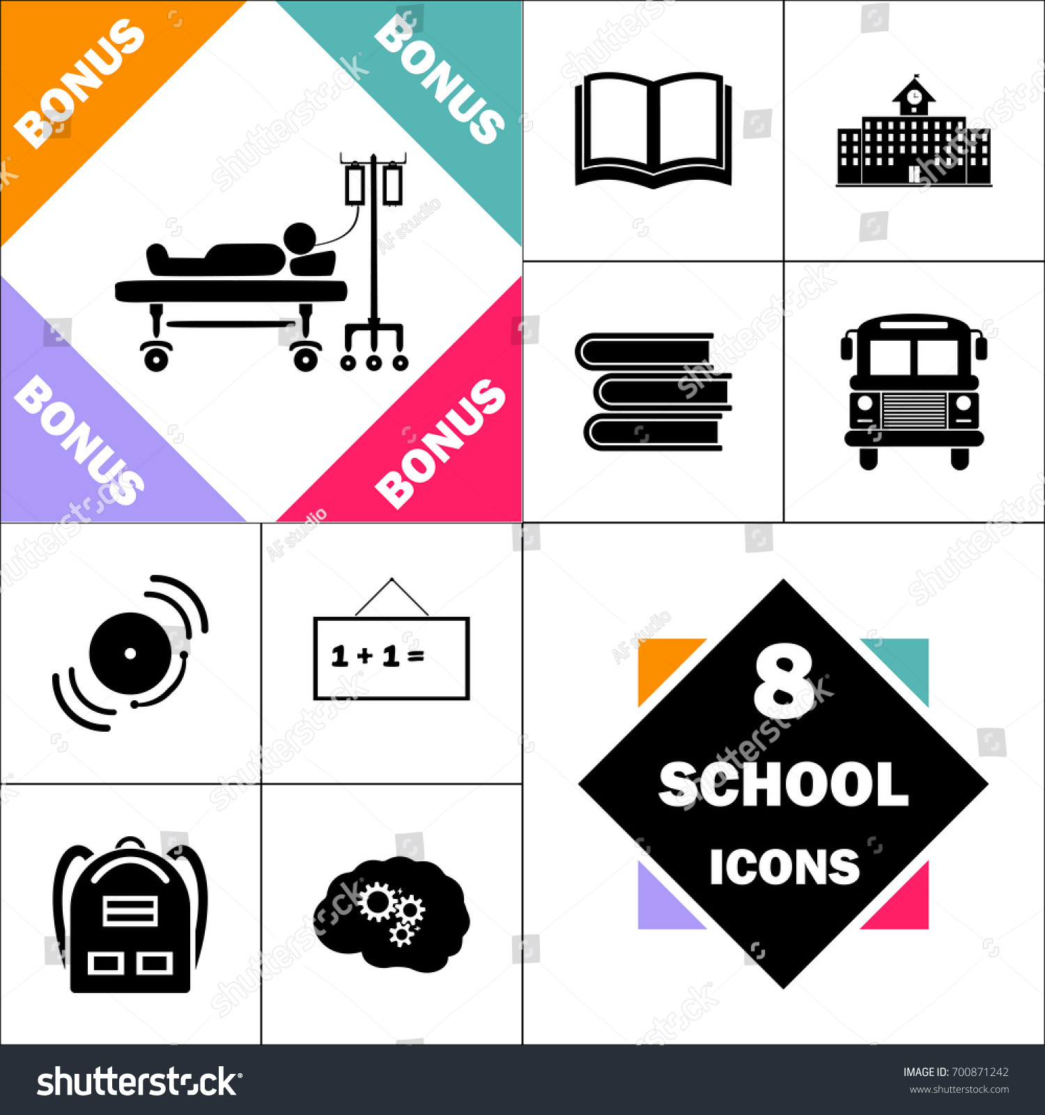 No Textbooks Icon Wiring Diagrams Basicwiring2wireswitchedplugbjpg Hospitalized Set Perfect Back School Stock Vector 700871242 Rh Shutterstock Com In Primary