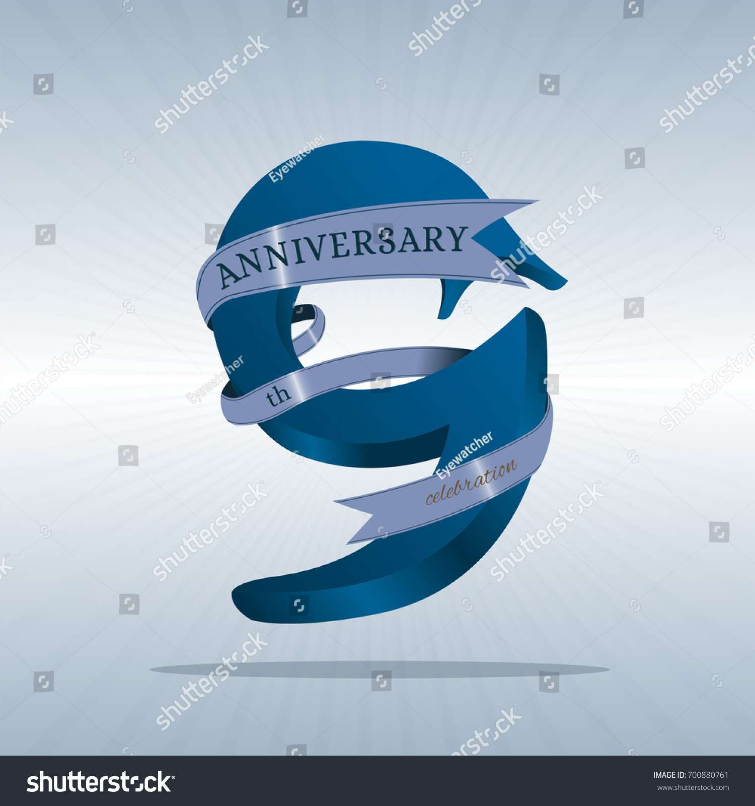 9th Anniversary Symbol Vector Stock Vector 700880761 Shutterstock